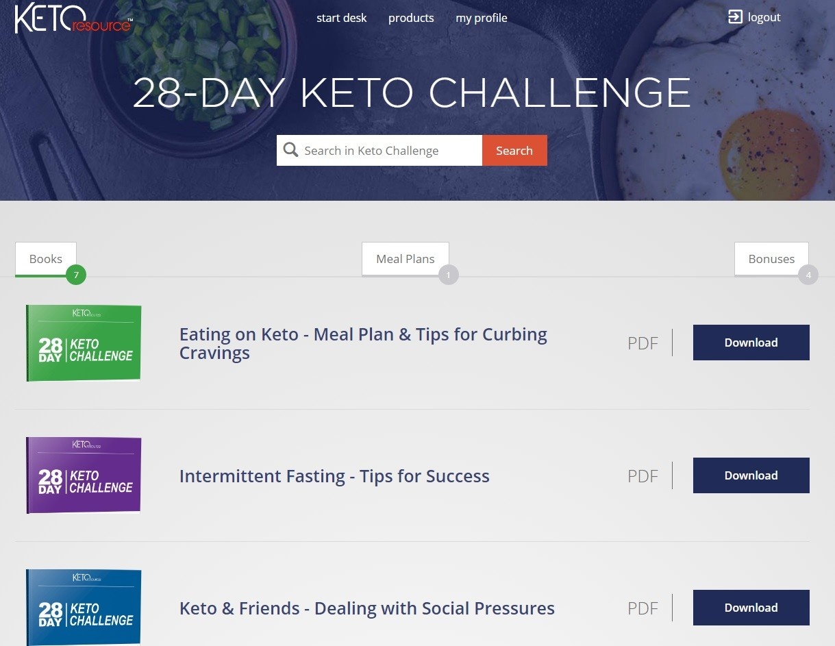 28-Day Keto Challenge Download Page