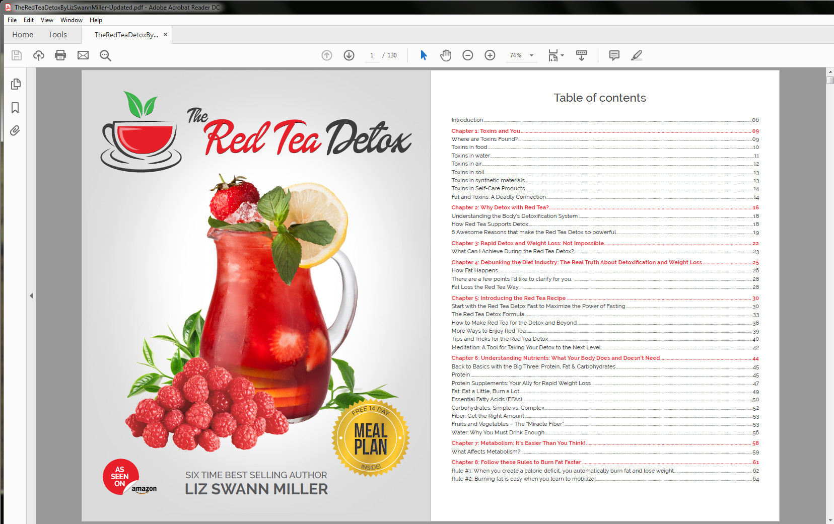 The Red Tea Detox Program Table of Contents (1/2)