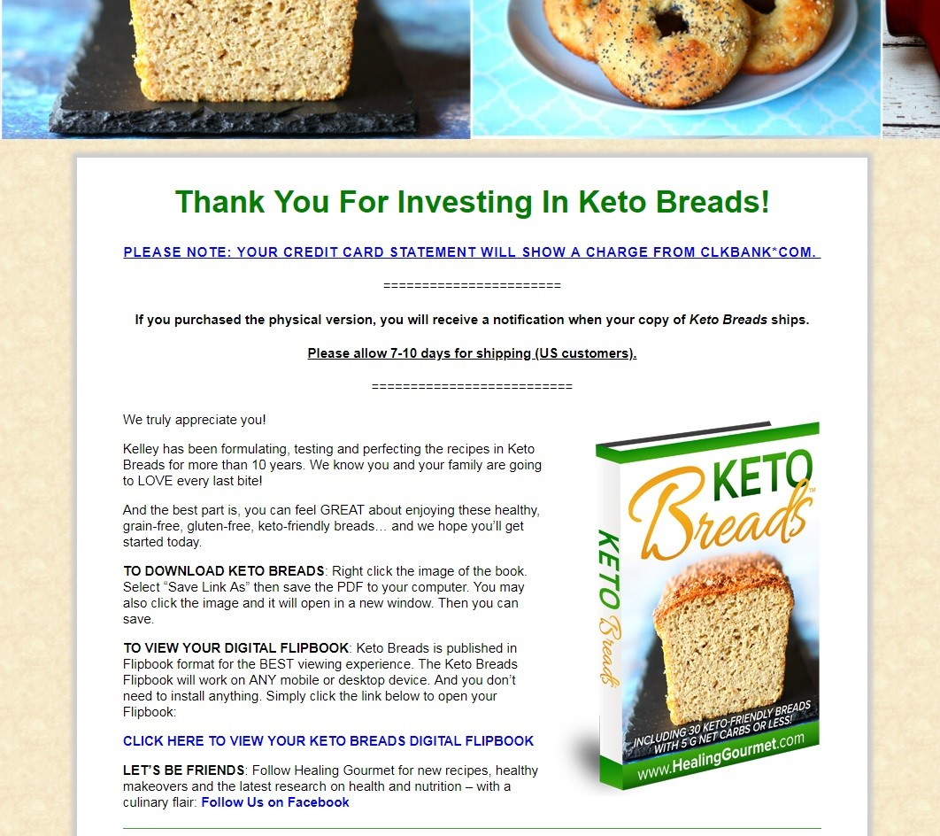 Keto Breads Download Page