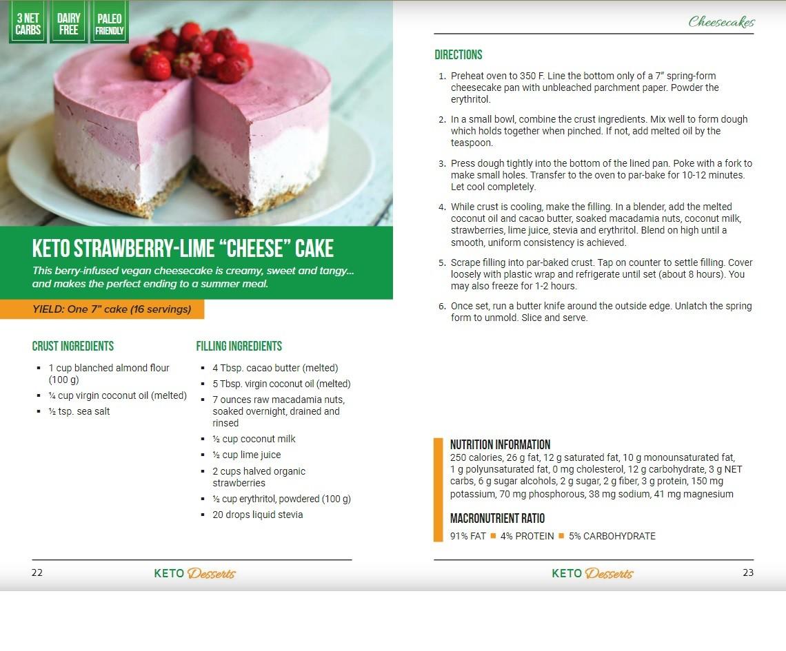 Keto Desserts Recipe Example
