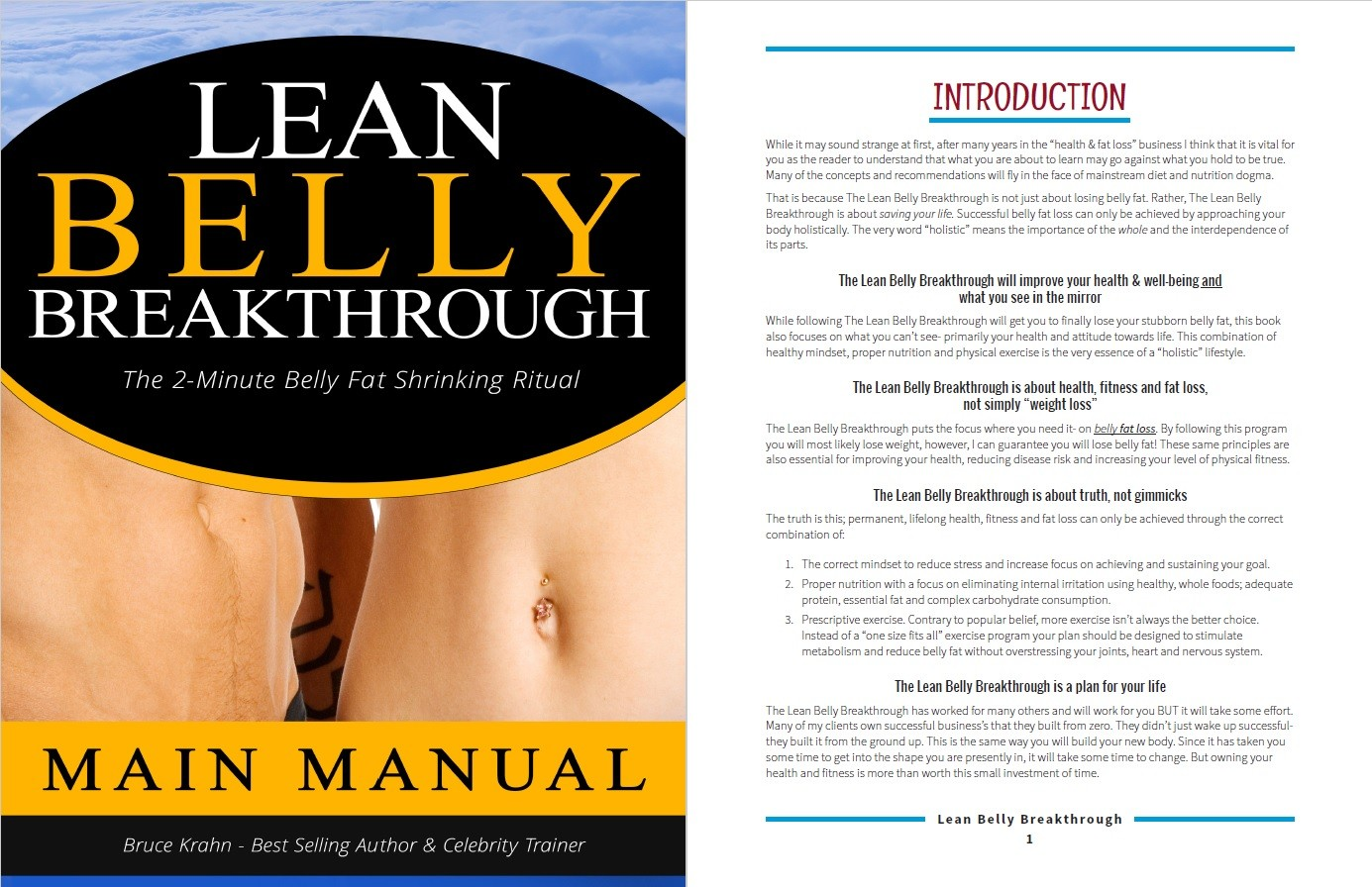 Lean Belly Breakthrough's Table of Contents