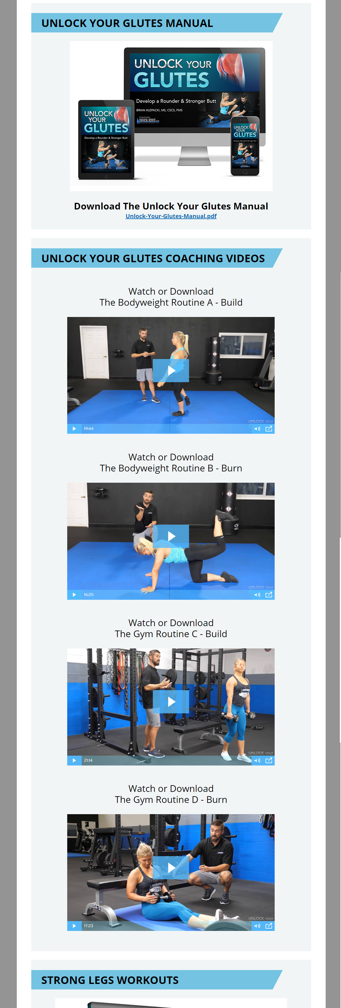 Unlock Your Glutes Download Page