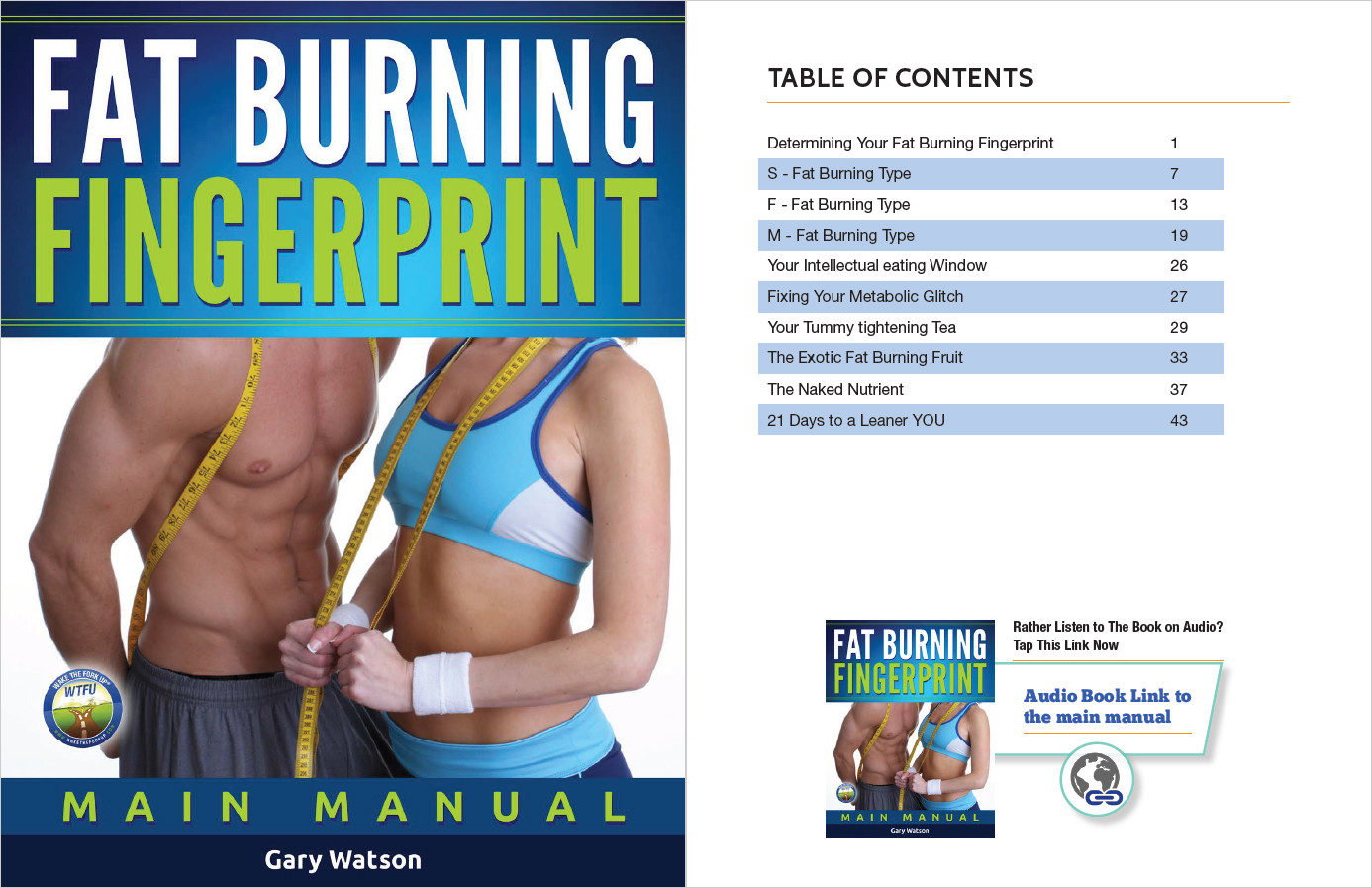 Fat Burning Fingerprint Table of Contents