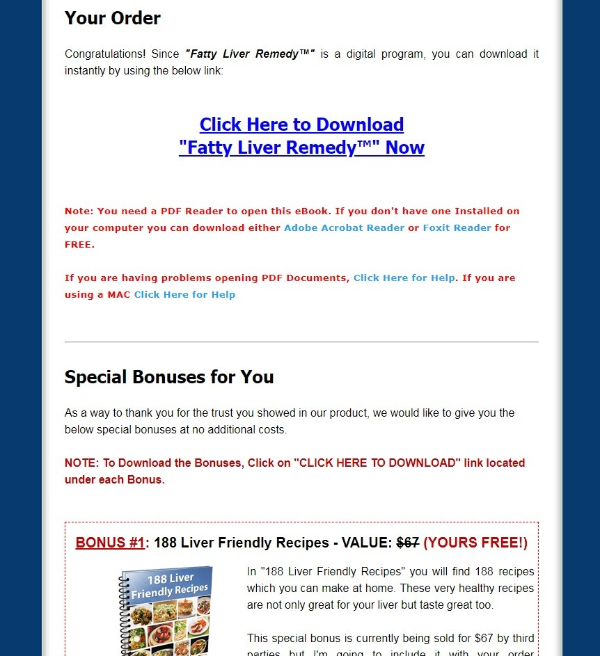 Fatty Liver Remedy Download Page
