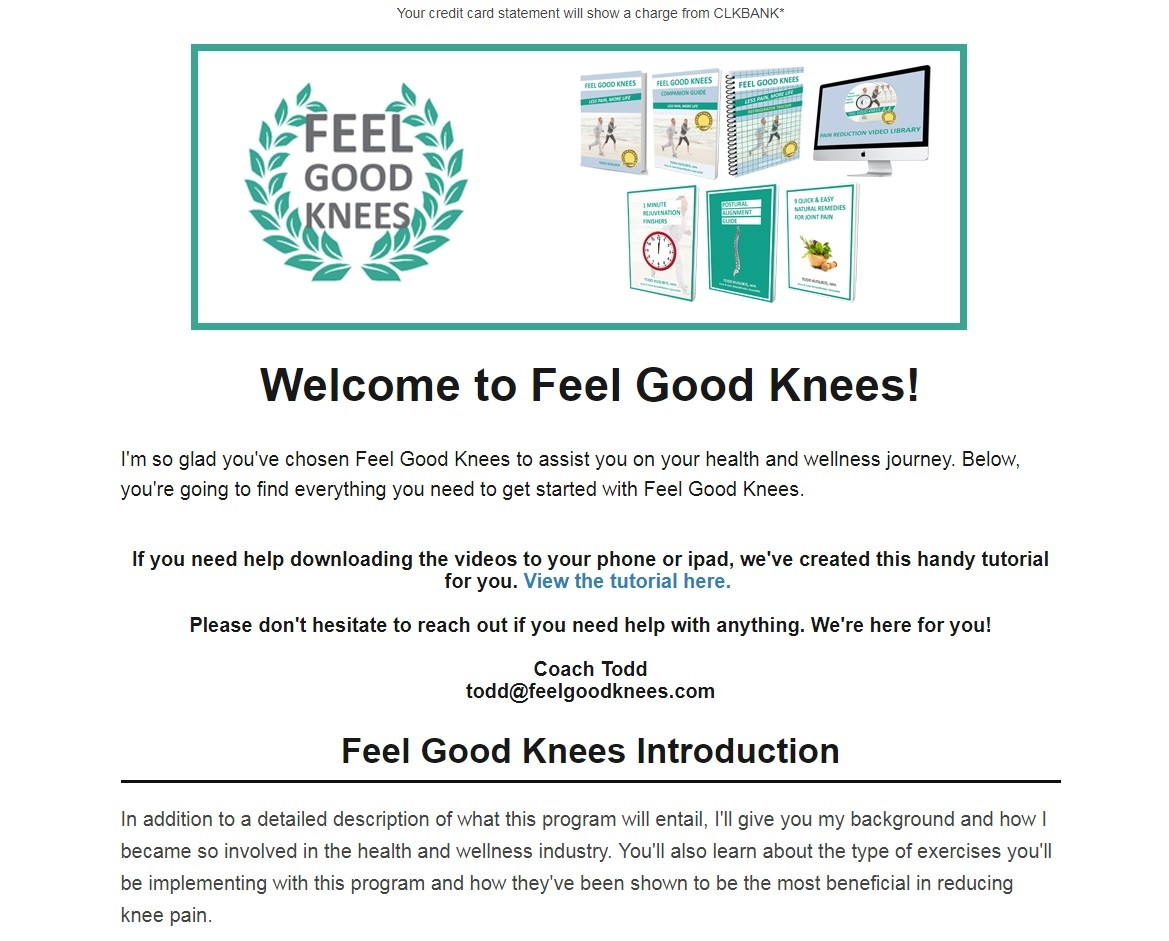 Feel Good Knees System Download Page