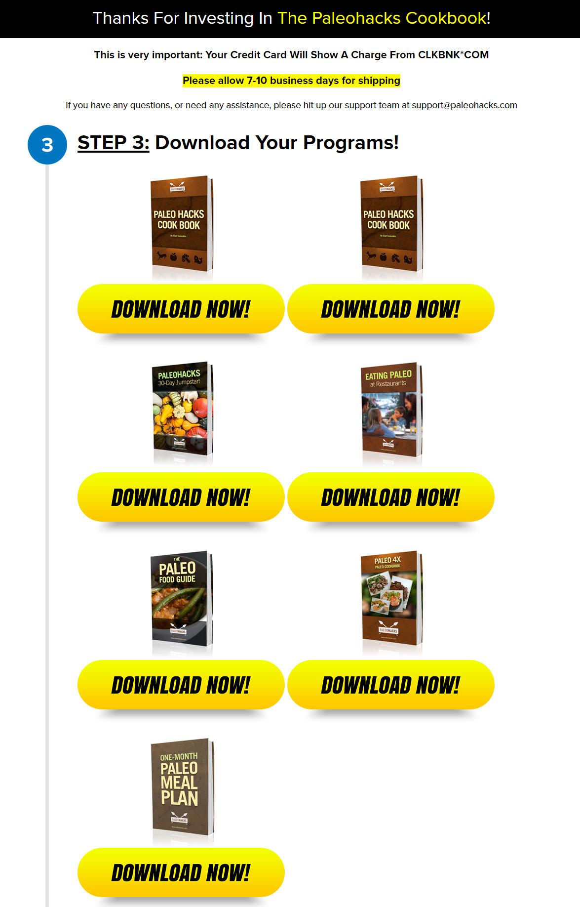 PaleoHacks Cookbook Download Page