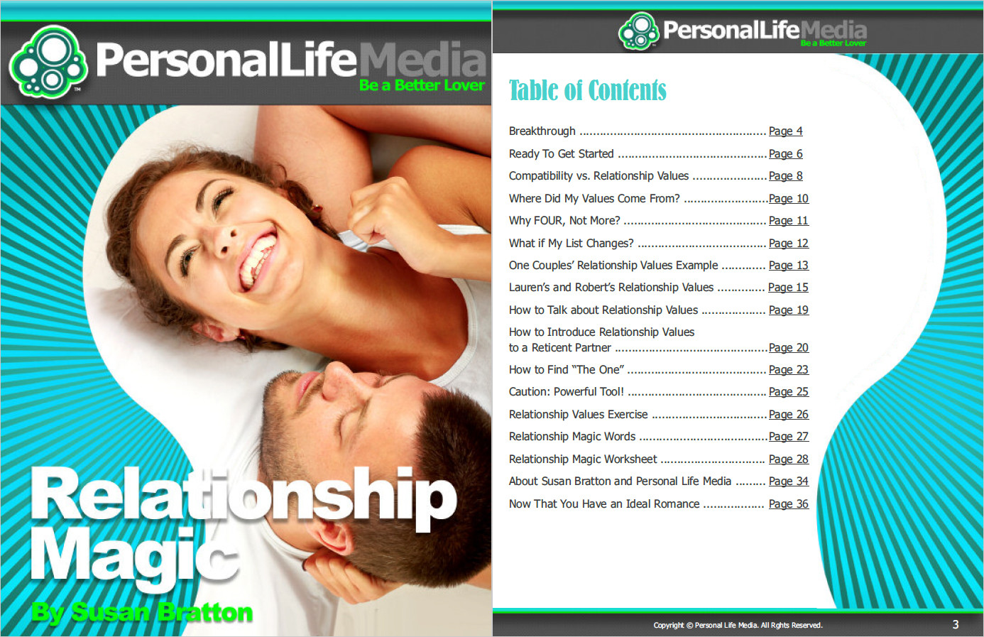 Relationship Magic Table of Contents