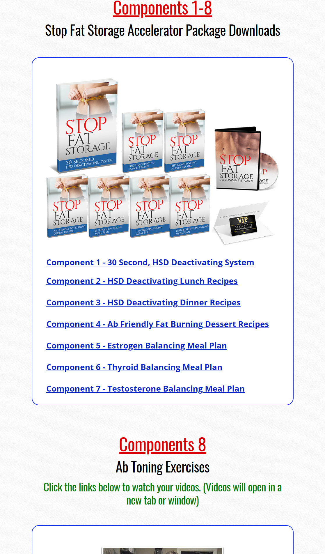 Stop Fat Storage Download Page