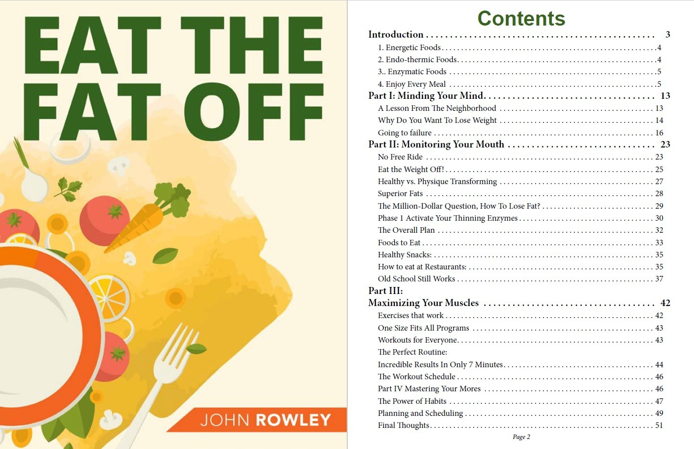 Eat The Fat Off Table of Contents