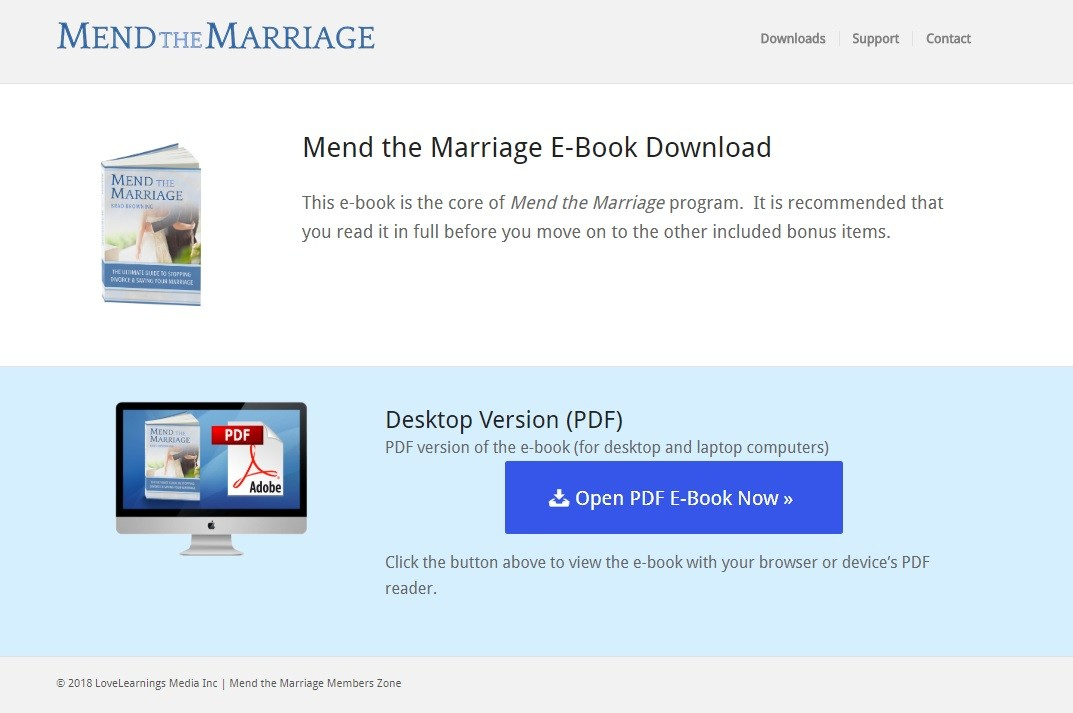 Mend The Marriage Download Page