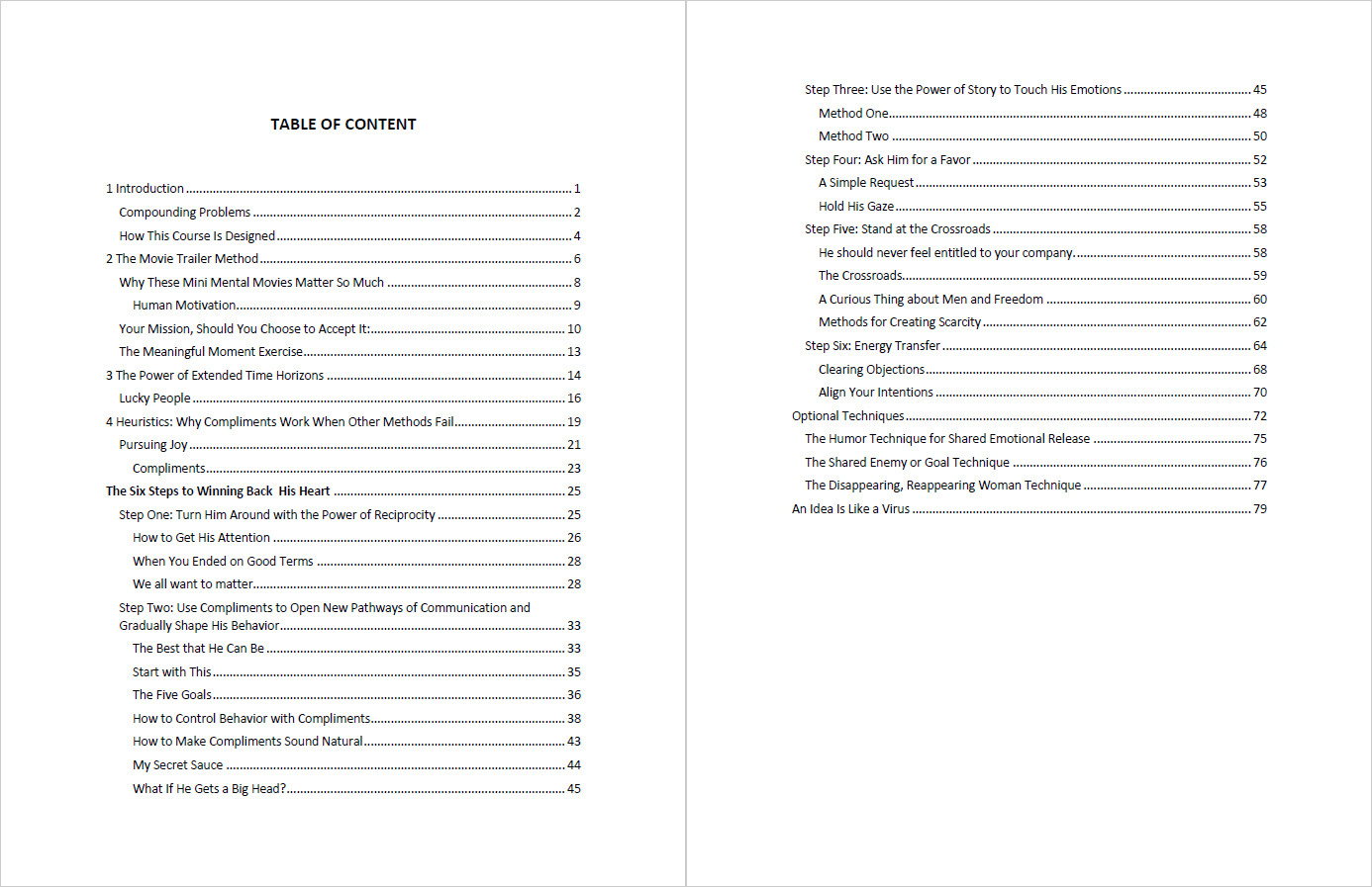 Relationship Rewrite Method Table of Contents