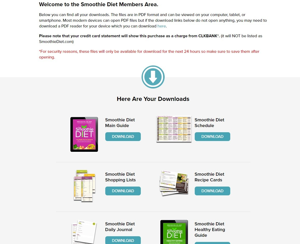 The Smoothie Diet Download Page