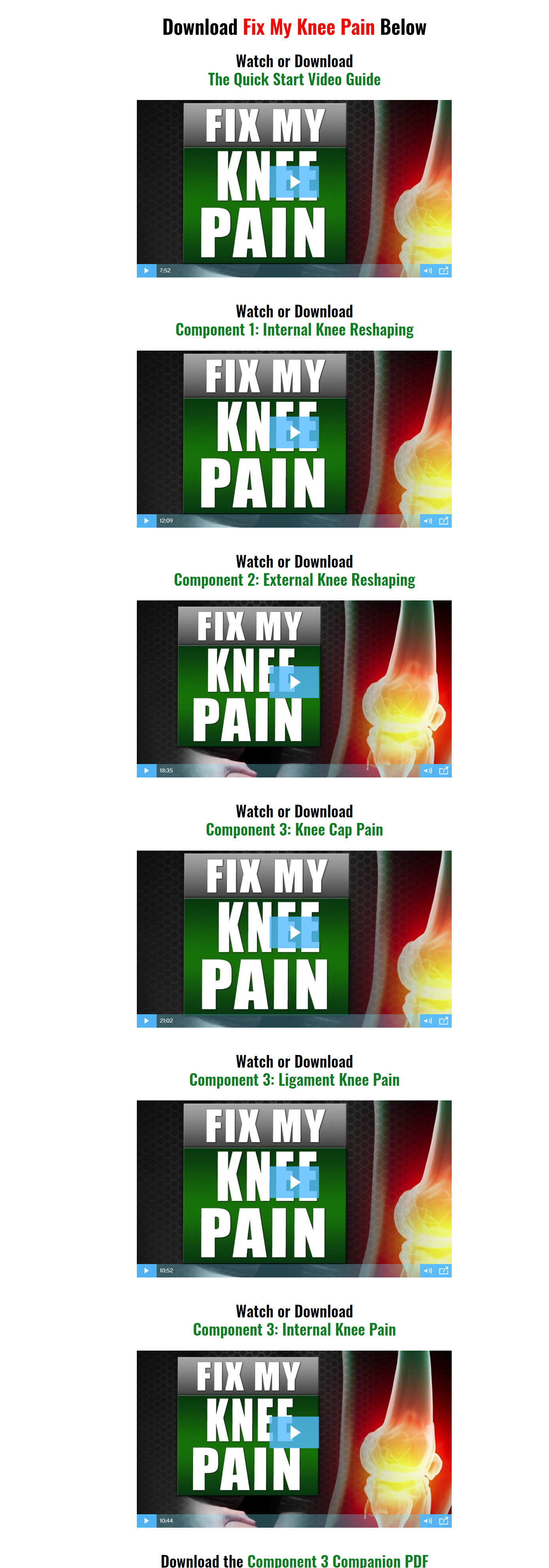 Fix My Knee Pain Download Page