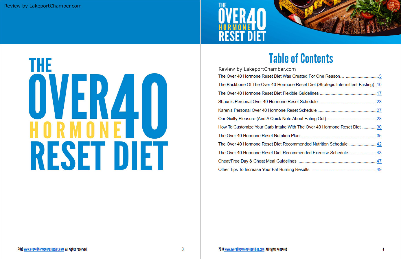 The Over 40 Hormone Reset Diet Table of Contents
