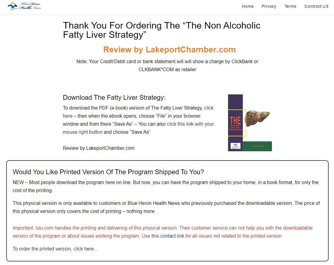 The Non Alcoholic Fatty Liver Strategy Download Page
