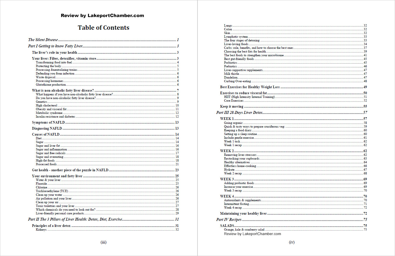 The Non Alcoholic Fatty Liver Strategy Table of Contents