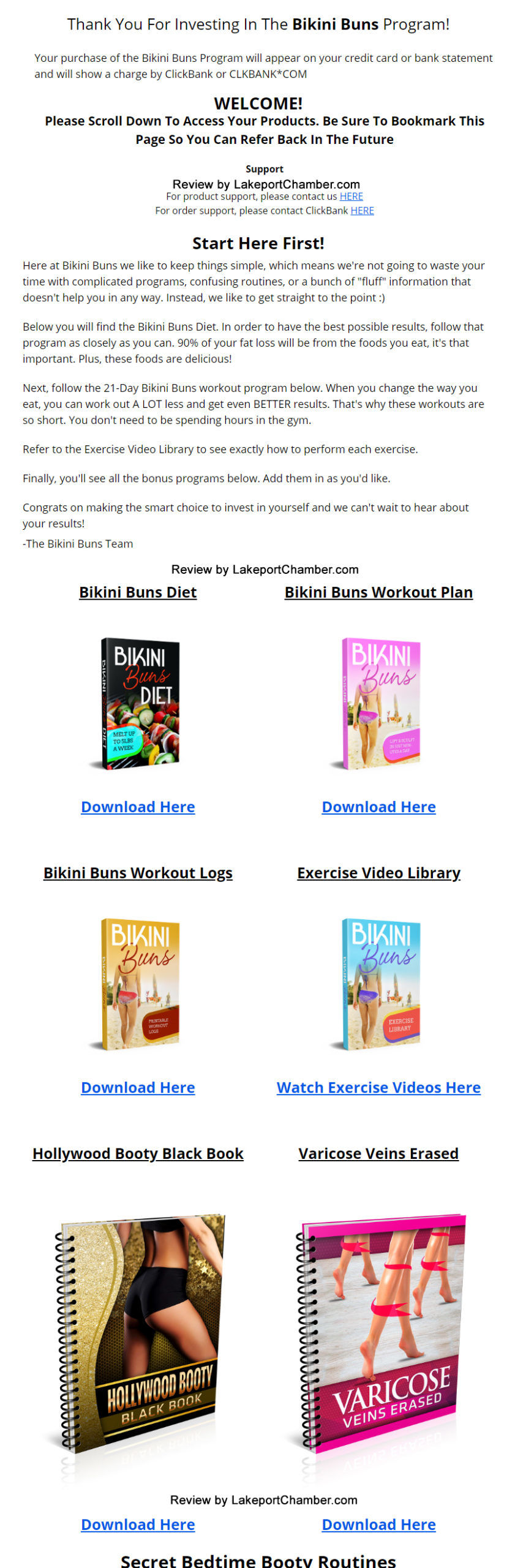 The Bikini Buns Program Download Page