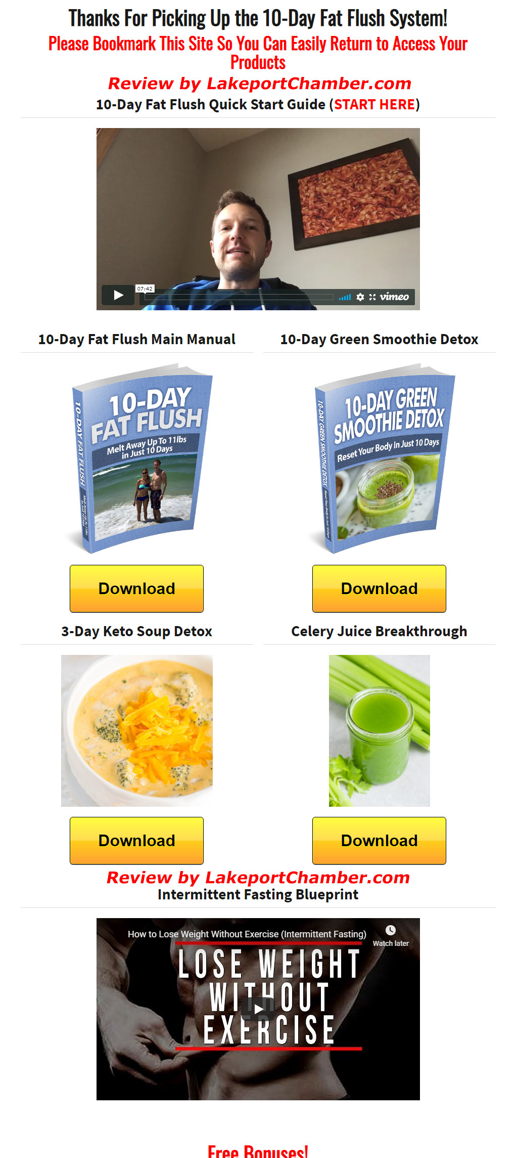 10-Day Fat Flush Download Page