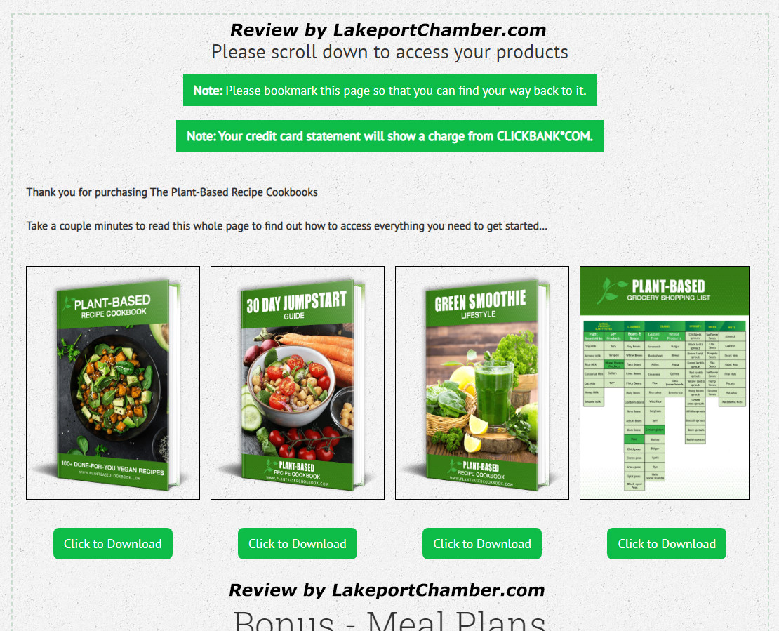 The Plant-Based Diet Cookbook Download Page