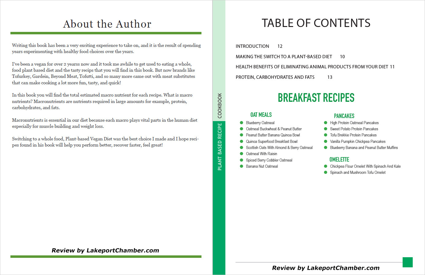 The Plant-Based Diet Cookbook Table of Contents