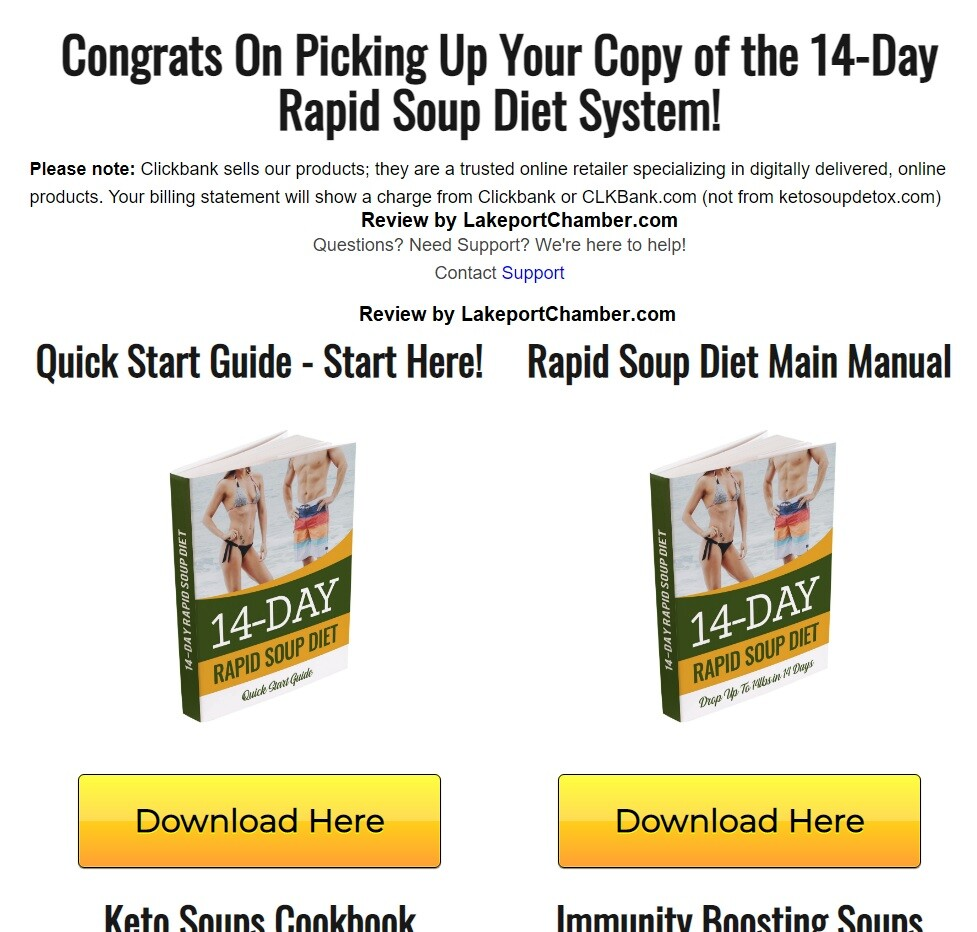14-Day Rapid Soup Diet Download Page