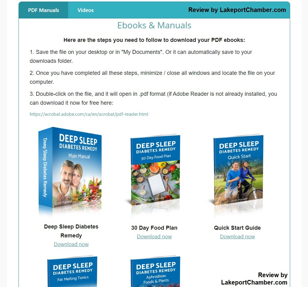 Deep Sleep Diabetes Remedy Download Page