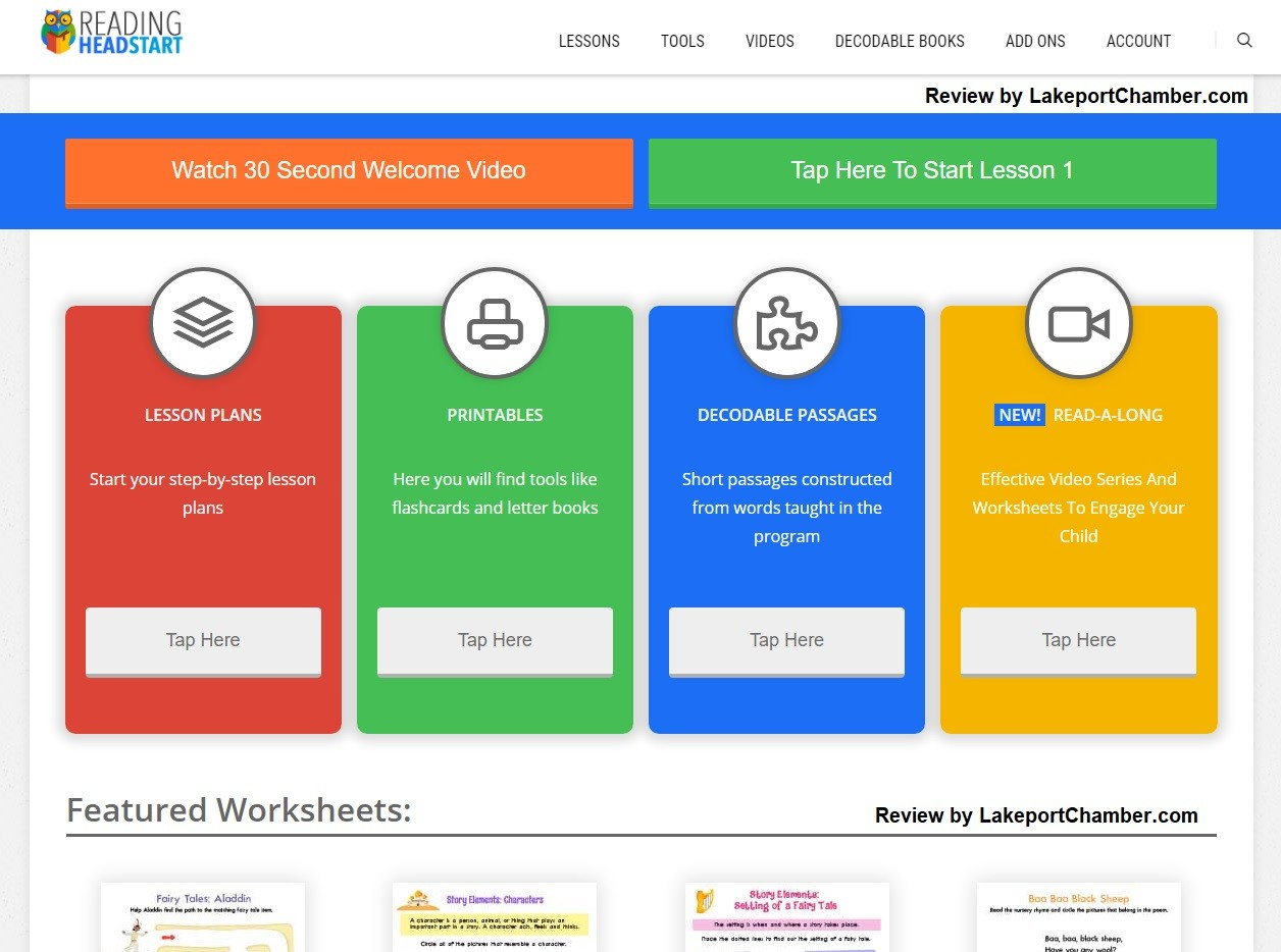 Reading Head Start Download Page